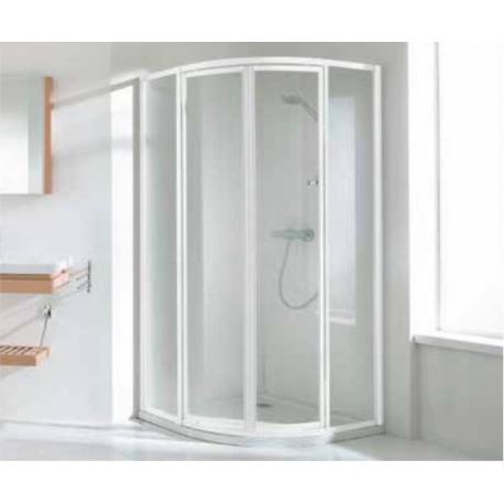Porte de douche 1/4 rond 80cm