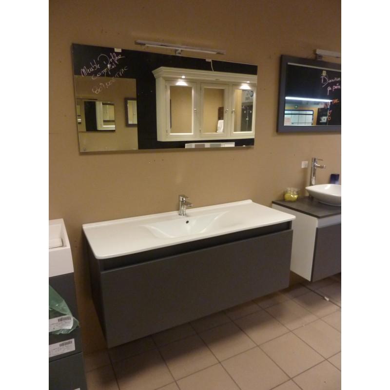 Meuble de salle de bain delpha 120cm sanidestock for Salle de bain delpha