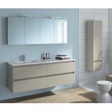 Sanijura Sobro 140cm beige soft avec miroir et colonne