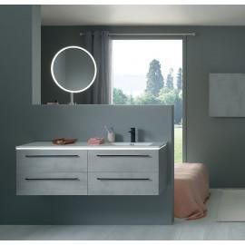 Sanijura Halo 140cm marbre blanc avec miroir