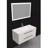 Sanijura Halo 100cm cuir vison avec armoire de toilette