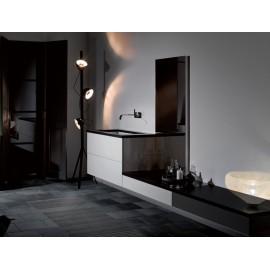 Alape A System Init noir mat et blanc brillant - 140cm