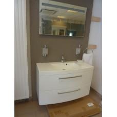 Meuble Sanijura 100cm blanc avec miroir