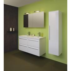 Sanijura line 120cm 4 tiroirs blanc avec armoire de toilette
