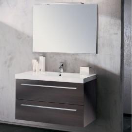 Sanijura Line Chêne Quebec + colonne + miroir