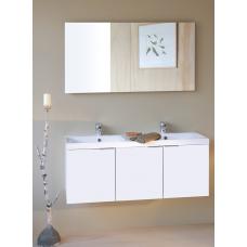 Sanijura Pix'l 120cm blanc brillant avec armoire de pharmacie