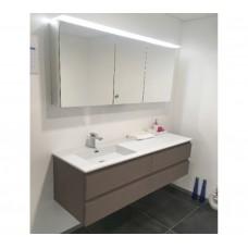 Sanijura Halo140cm + armoire toilette taupe
