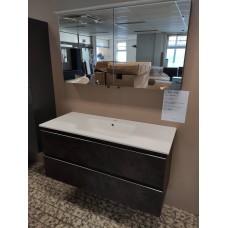 Sanijura Lumen 120cm Effet cuir  avec armoire de toilette