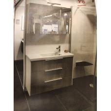 Sanijura XS 100cm blanc + chêne + armoire de toilette