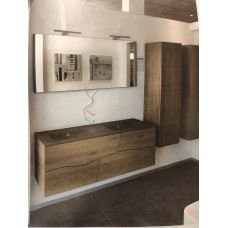 Sanijura Sherwood 140cm chêne viellie + colonnes