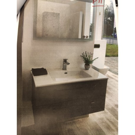 Sanijura Halo 90cm gris beton + miroir