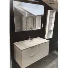Sanijura Pix'l 90cm blanc + armoire de toilette